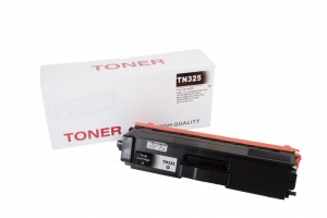 Brother compatible toner cartridge TN325BK, 6000 yield