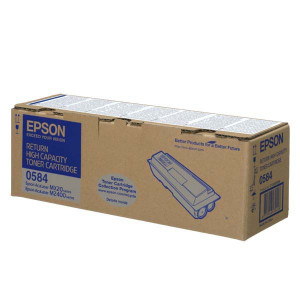 Epson originál toner C13S050584, black, 8000str., return, high capacity, Epson Aculaser M2400, MX20