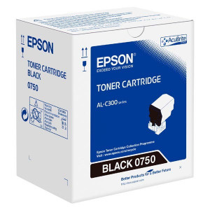 Epson originál toner C13S050750, black, 7300str., Epson WorkForce AL-C300N