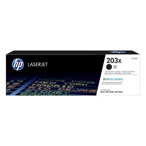 HP originál toner CF540X, black, 3200str., HP 203X, high capacity, HP Color LaserJet Pro M254, M280, M281