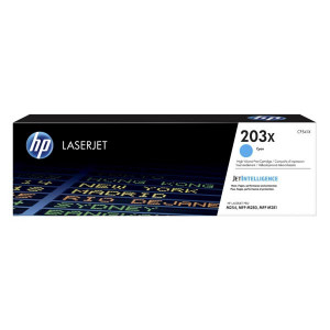 HP originál toner CF541X, cyan, 2500str., HP 203X, high capacity, HP Color LaserJet Pro M254, M280, M281