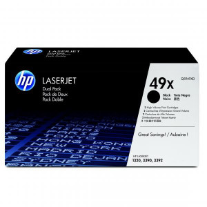 HP originál toner Q5949XD, black, 12000 (2x6000)str., HP 49X, high capacity, HP LaserJet 1320, 3390, 3392, Dual pack, 2ks