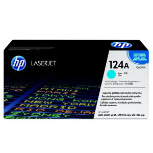 HP original toner Q6001A, cyan, 2000str., HP 124A, HP Color LaserJet 1600, 2600n, 2605, O