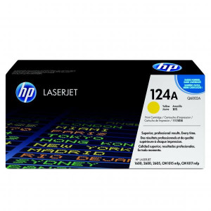 HP original toner Q6002A, yellow, 2000str., HP 124A, HP Color LaserJet 1600, 2600n, 2605, O