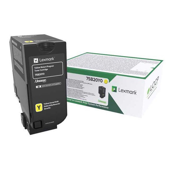 Lexmark originál toner 75B20Y0, yellow, 10000str., return, Lexmark CS727de, CS728de, CX727de