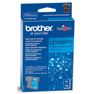 Brother originál ink LC-1100HYC, cyan, 750str., high capacity, Brother DCP-6690CW, MFC-6490CW