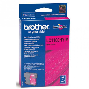 Brother original ink LC-1100HYM, magenta, 750str., high capacity, Brother DCP-6690CW, MFC-6490CW