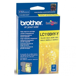 Brother originál ink LC-1100HYY, yellow, 750str., high capacity, Brother DCP-6690CW, MFC-6490CW