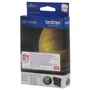 Brother original ink LC-1100BK, black, 500str., Brother DCP-6690CW, MFC-6490CW