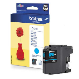 Brother original ink LC-121C, cyan, 300str., Brother DCP-J552DW,  MFC-J470DW