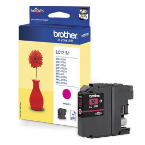 Brother original ink LC-121M, magenta, 300str., Brother DCP-J552DW,  MFC-J470DW