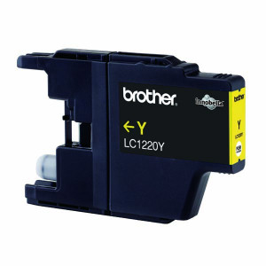 Brother original ink LC-1220Y, yellow, 300str., Brother DCP-J925 DW