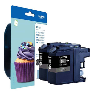 Brother original ink LC-123BK, black, 2x600str., 2ks, Brother MFC-J4510 DW