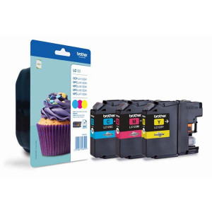 Brother original ink LC-123RBWBP, cyan/magenta/yellow, 3*600str., Brother MFC-J4510 DW