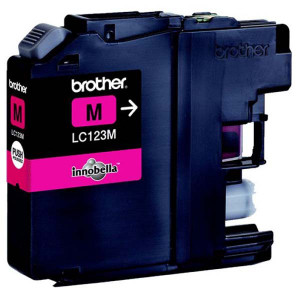 Brother original ink LC-123M, magenta, 600str., Brother MFC-J4510 DW