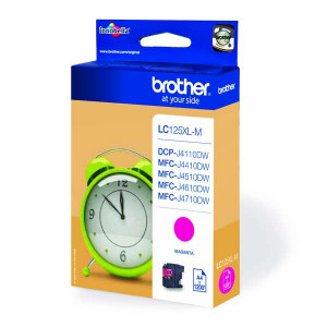 Brother originál ink LC-125XLM, magenta, 1200str., Brother MFC-J4510 DW