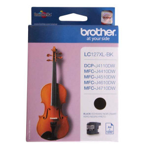 Brother originál ink LC-127XLBK, black, 1200str., Brother MFC-J4510 DW