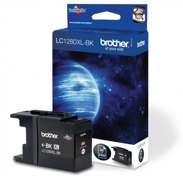Brother originál ink LC-1280XLBK, black, 2400str., high capacity, Brother MFC-J6910DW