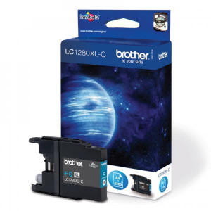Brother originál ink LC-1280XLC, cyan, 1200str., high capacity, Brother MFC-J6910DW