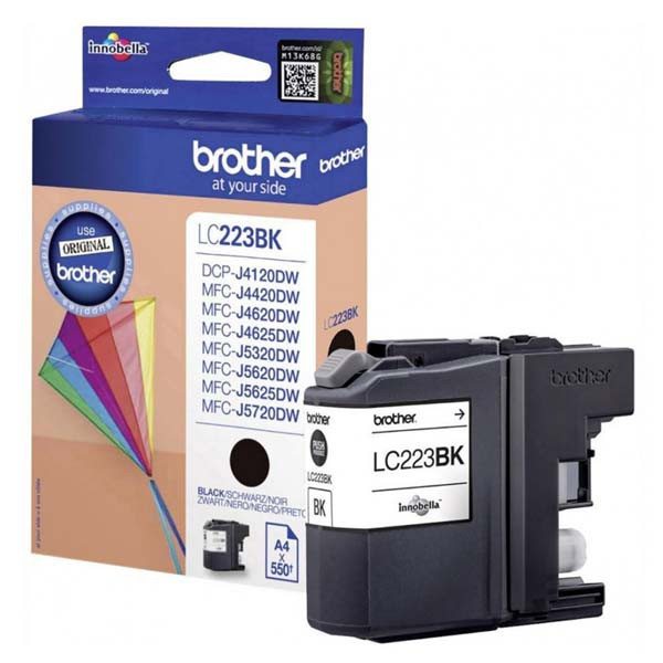 Brother original ink LC-223BK, black, 600str., 1ks, Brother MFC-J4420DW, MFC-J4620DW, MFC-J4120DW, MFC-J4625DW
