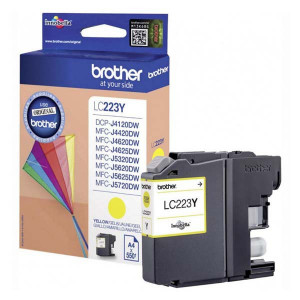 Brother originál ink LC-223Y, yellow, 600str., 1ks, Brother MFC-J4420DW, MFC-J4620DW