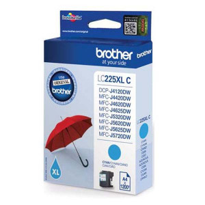 Brother original ink LC-225XLC, cyan, 1200str., 1ks, Brother MFC-J4420DW, MFC-J4620DW