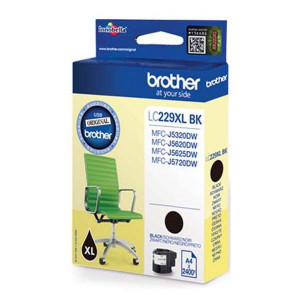 Brother originál ink LC-229XL, black, 2400str., 1ks, Brother MFC-J5320DW, MFC-J5620DW, MFC-J5720DW