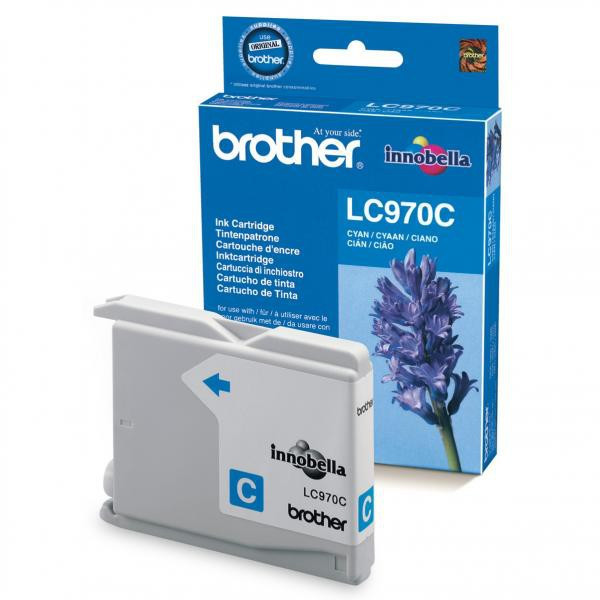 Brother original ink LC-970C, cyan, 300str., Brother DCP-135C, 150C, MFC-235C, 260C