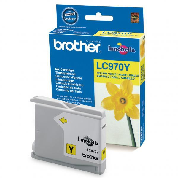 Brother originál ink LC-970Y, yellow, 300str., Brother DCP-135C, 150C, MFC-235C, 260C