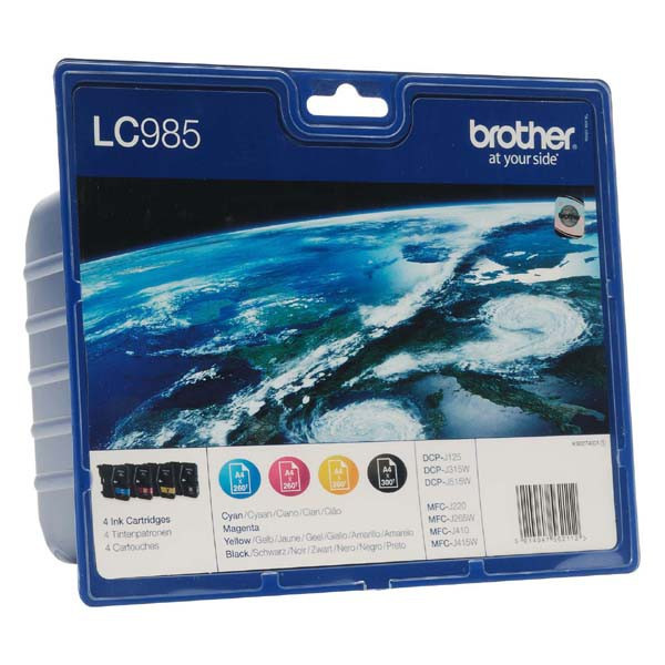 Brother original ink LC-985VALBP, CMYK, 300str., Brother DCP-J125, J315W, J515W