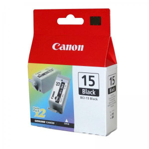 Canon original ink BCI15B, black, 390str., 8190A002, 2ks, Canon i70