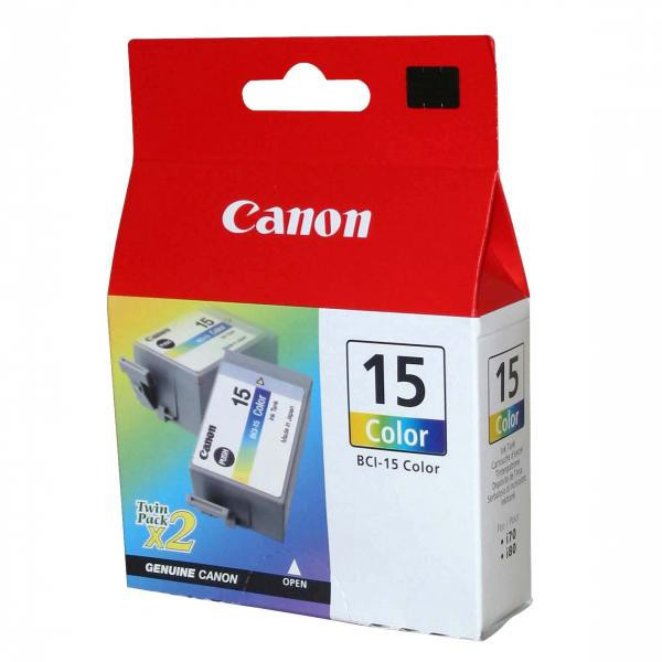 Canon originál ink BCI15C, color, 100str., 8191A002, 2ks, Canon i70