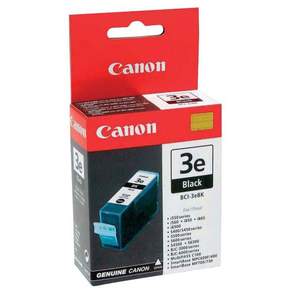 Canon original ink BCI3eBK, black, blister s ochranou, 500str., 27ml, 4479A297, 4479A277, Canon BJ-C6000, 6100, 6200, S400, 450