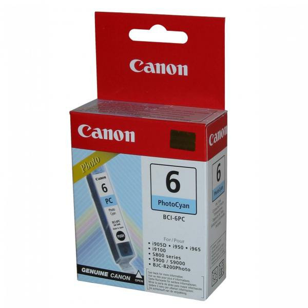 Canon original ink BCI6PC, photo cyan, 13 4709A002, Canon S800, 820D, 830D, 900, 9000, i950