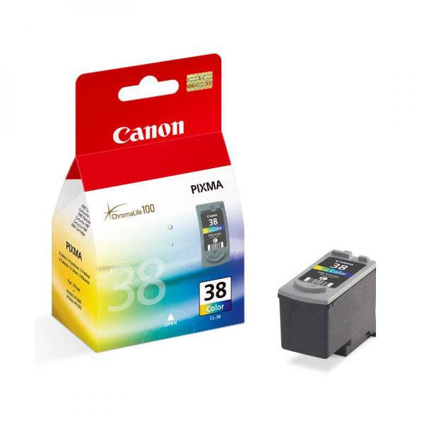 Canon original ink CL38, color, blister s ochranou, 207str., 9ml, 2146B008, 2146B003, Canon iP1800