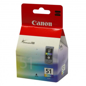 Canon originál ink CL51, color, 330str., 3x7ml, 0618B001, Canon iP2200, iP6210D, MP150, MP170, MP450