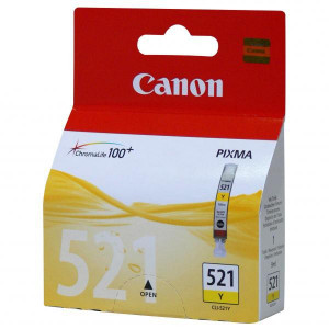 Canon original ink CLI521Y, yellow, 505str., 9ml, 2936B001, Canon iP3600, iP4600, MP620, MP630, MP980