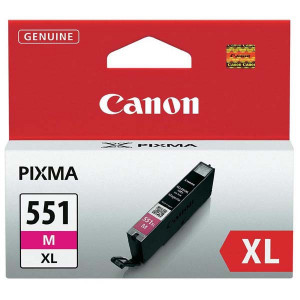 Canon originál ink CLI551M XL, magenta, 11ml, 6445B001, high capacity, Canon PIXMA iP7250, MG5450, MG6350, MG7550