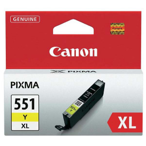 Canon original ink CLI551Y XL, yellow, 11ml, 6446B001, high capacity, Canon PIXMA iP7250, MG5450, MG6350, MG7550