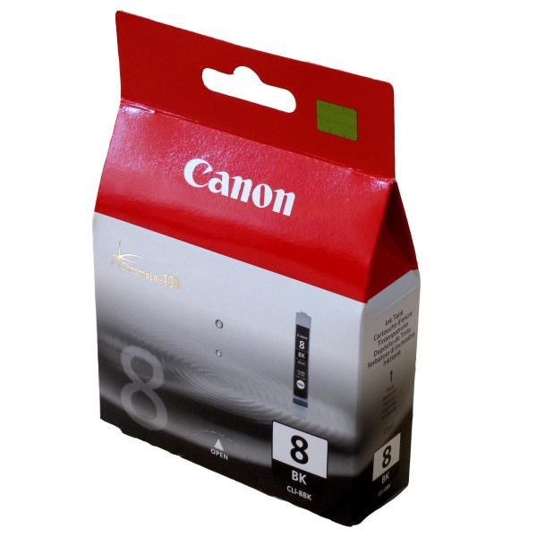 Canon originál ink CLI8BK, black, blister s ochranou, 940str., 13ml, 0620B029, 0620B006, Canon iP4200, iP5200, iP5200R, MP500, MP8