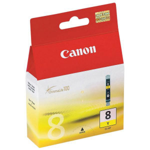 Canon original ink CLI8Y, yellow, 490str., 13ml, 0623B001, Canon iP4200, iP5200, iP5200R, MP500, MP800