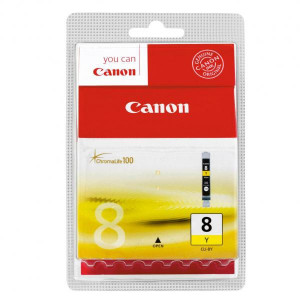 Canon original ink CLI8Y, yellow, blister s ochranou, 420str., 13ml, 0623B026, 0623B006, Canon iP4200, iP5200, iP5200R, MP500, MP8