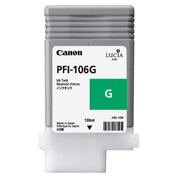 Canon original ink PFI106G, green, 130ml, 6628B001, Canon iPF-6300