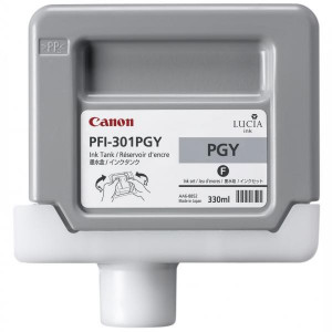 Canon originál ink PFI301PGY, photo grey, 330ml, 1496B001, Canon iPF-8000, 9000