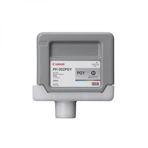 Canon originál ink PFI302PGY, photo grey, 330ml, 2218B001, Canon iPF-8100, 9100