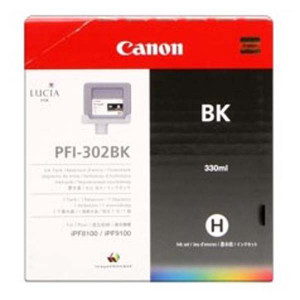 Canon originál ink PFI302B, photo black, 330ml, 2216B001, Canon iPF-8100, 9100