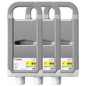 Canon original ink PFI707Y, yellow, 3x700ml, 9824B003, Canon iPF-830, 840, 850
