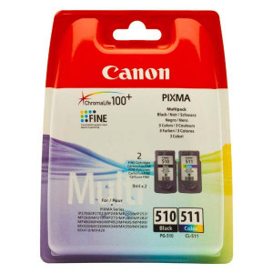Canon original ink PG-510/CL-511, black/color, blister, 220, 245str., 9ml, 2970B010, Canon MP240, 260, 270, 480