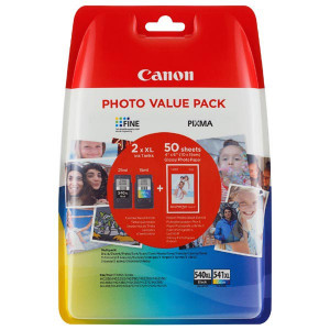 Canon originál value pack PG-540XL+CL-541XL + fotopapier PG-540XL+CL-541XL, black/color, 5222B013, Canon MG2150,2250,3150,3250, 41