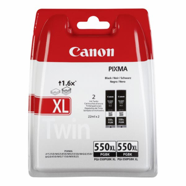 Canon original ink 6431B005, XL black, blister s ochranou, 2x22ml, Canon MAXIFY MG6650, PIXMA iP8750, iX6850, MG5550, MG565